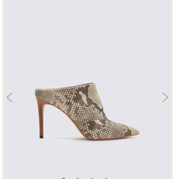 01b0bbc6e6 Dolce Vita Shoes - Dolce Vita Snakeskin Heeled Cinda Mule